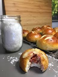 Ham And Cheese Stuffed Pretzel Rolls Recipe Sinkology