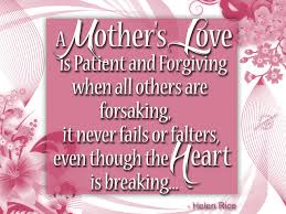 a mother s love is patient and forgiving