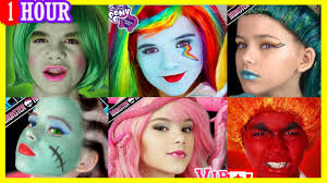 1 hour face paint makeup more inside out my little pony monster high pilation kittiesmama you