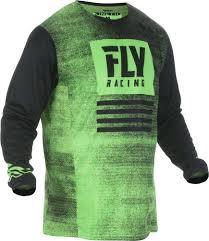 Fly Racing Mx Motocross Boys Youth Kinetic Noiz Jersey Neon Green Black
