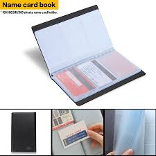 300 Sheet Business Name Credit Card Storage Holder Synthetic Leather