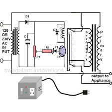 ac automatic voltage regulator circuit diagram ireleast info how to make an automatic voltage stabilizer circuit construction wiring circuit
