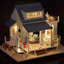cuteroom a 037 a caribbean diy dollhouse miniature kit with light motor