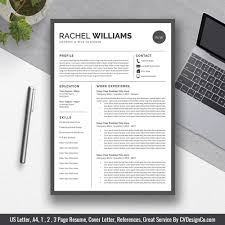 2019 Best Selling Office Word Resume Cv Templates Cover Letter References For Digital Instant Download The Rachel Resume