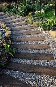 Backyard Landscape Designs On A Budget Adorable Pebble Walkway Garden Path By Barb Buckley On Flea Market Crafting R