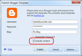 How To Create A Blog Blogger Template Created With Artisteer