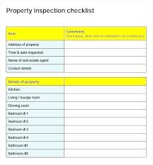 home inspection st sample for ers house form free real estate checklist template