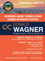 Town Hall Meeting Sober Living Homes In North Tustin