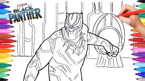 black panther coloring pages drawing and coloring marvel black panther superheroes coloring pages
