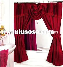 cloth shower curtains with valance double swag shower curtain with valance double swag shower shower curtain