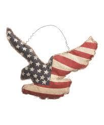 patriotic burlap eagle wall décor