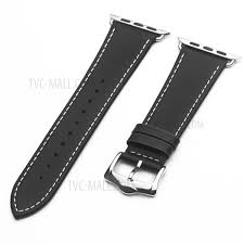 qialino top layer cowhide leather strap for apple watch series 4 40mm series 3