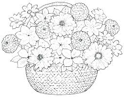 Printable Coloring Pages Flowers Coloring Page Of Flowers Adult
