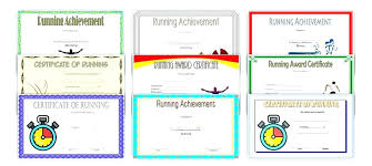 Fun Run Certificate Template Athletic Certificate Template Sports Free