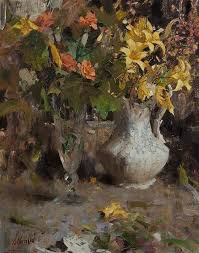 Richard Alan Schmid, (American, b. 1934), Day Lilies and Roses ...