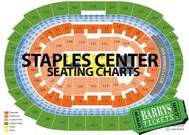 Barrys Tickets Staples Center Seating Charts Chart