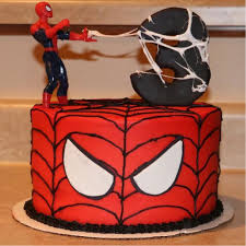Spiderman Theme Cake 2 Kg Round Spiderman Cream Cake With The