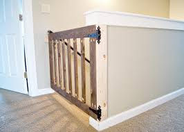 wooden indoor gate big wood baby gates for stairs