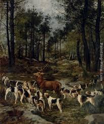 charles olivier de penne the deer hunt