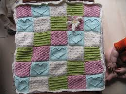 Best 25+ Knitting squares ideas on Pinterest | Knitted squares ... & Textured Block Baby Blanket Heart Knitting Pattern Picture Adamdwight.com