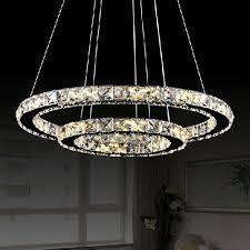 Contemporary Led Light Fixtures Modern Luminaire Suspendu Led Crystal Chandelier Lights For Diving Room Cristal Lustre Pendente Lighting Pendant Hanging Fixture