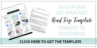 Road Trip Template How To Plan Your Best Road Trip Ever To Vogue Or Bust