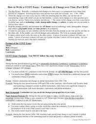 How To Write A Ccot Essay