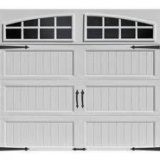 9x7 garage doorIdeal Door EZSET White Arch Lite Long Panel Carriage House