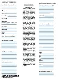 Download Obituary Template Word For Baby Funeral