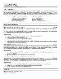 Sample Resume Of Chef Inspirational 14 New Chef Resume Template