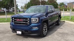 2018 gmc lifted trucks.  2018 2018 gmc sierra 1500 slt 4wd double cab all terrain tube running boards  blue oshawa on stock 180099 intended gmc lifted trucks