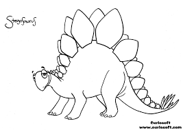 Not Just Stegosaurs Stegosaurus Outline Tattoo