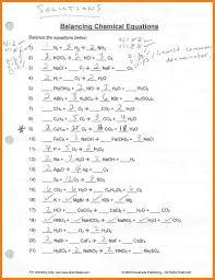 4 balancing equations worksheet