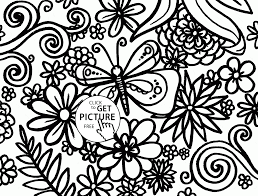 Coloring Pages Spring Pattern Coloring Page For Kids Seasons