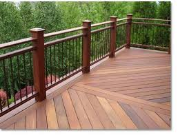 Deck Railing Ideas This Ipe Wood The Too For Inspiration
