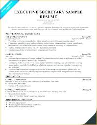 Resume Template Executive Assistant Word Sample Example Enchanting Resume For Executive Assistant