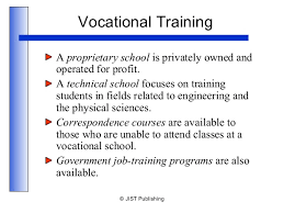 vocational school careers college careers ch 6