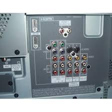 panasonic viera tv back. panasonic th-50px60u - rear input viera tv back