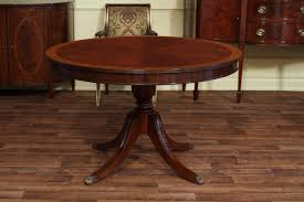 Antique Round Kitchen Table High End Mahogany Dining Table In A Walnut Finish 48 To 66