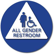 school bathroom sign. Wonderful Bathroom School Bathroom Sign All Gender Sign Restroom Door To School Bathroom Sign
