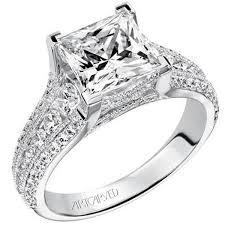 harper princess cut diamond engagement ring