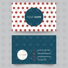 Business Card Template With Round Space On Polka Dot Vector Image Of