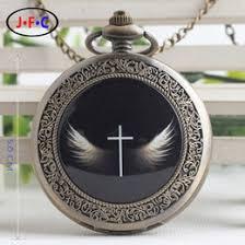 discount custom watches for men 2017 custom watches for men on 2017 custom watches for men custom cross angel creative trend quartz pocket watch believers symbol pure