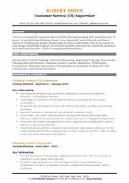Customer Services Experience Customer Service Supervisor Resume Samples Qwikresume
