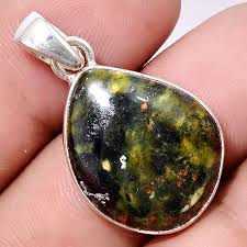 details about turkish rainforest chrysocolla 925 sterling silver pendant jewelry pp30760
