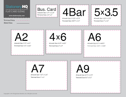 Envelope Size Chart Pdf Weve Gotten Requests For Flat Card Sizes At A Glance Click