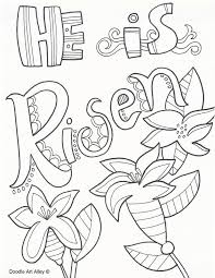 Easter Coloring Pages And Printables At Religious Doodles Free And