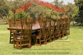 HandMade Amish Furniture - Amish oak dining room furniture