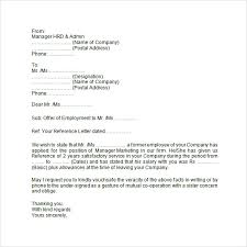 8 Sample Useful Employment Letters Sample Templates