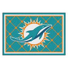 miami dolphins 1 4 plush area rug nylon 8 x 10